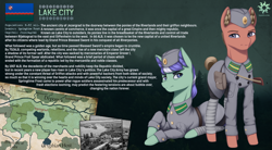 Size: 2500x1381 | Tagged: safe, artist:mrscroup, oc, oc only, earth pony, pony, equestria at war mod, clothes, duo, female, flag, gun, hat, hearts of iron 4, male, map, mare, military uniform, original location, prone, rifle, soldier, stallion, uniform, weapon