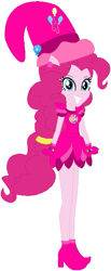 Size: 281x679 | Tagged: safe, artist:selenaede, artist:user15432, pinkie pie, equestria girls, barely eqg related, base used, boots, clothes, cosplay, costume, crossover, cutie mark, ear piercing, earring, element of laughter, gloves, hat, jewelry, magical doremi, ojamajo doremi, piercing, ponied up, shoes, witch, witch apprentice, witch costume, witch hat