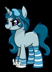 Size: 790x1100 | Tagged: safe, artist:xbeautifuldreamerx, oc, pony, unicorn, clothes, deviantart watermark, female, mare, obtrusive watermark, simple background, slippers, socks, solo, striped socks, transparent background, watermark