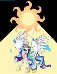 Size: 1024x1326 | Tagged: safe, artist:professionalgay, princess celestia, rarity, pony, fusion, simple background, solo, sun, transparent background