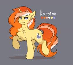 Size: 3000x2668 | Tagged: safe, artist:nightskrill, oc, oc only, oc:karoline lindsey, pony, unicorn, solo