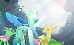 Size: 1280x786 | Tagged: safe, artist:thurder2020, queen chrysalis, changedling, changeling, changeling queen, a better ending for chrysalis, changedling queen, changedlingified, female, purified chrysalis, show accurate, species swap