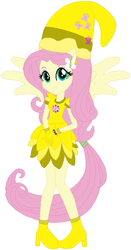Size: 341x651 | Tagged: safe, artist:selenaede, artist:user15432, fluttershy, human, equestria girls, base used, boots, clothes, cosplay, costume, crossover, cutie mark, ear piercing, earring, element of kindness, gloves, hat, jewelry, magical doremi, ojamajo doremi, piercing, ponied up, shoes, wings, witch, witch apprentice, witch costume, witch hat