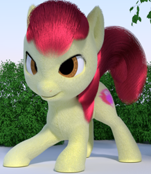 Size: 834x955   Tagged: safe, anonymous artist, apple bloom, 3d, bipedal, bow, cycles, female, filly, fur, tail