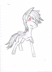 Size: 2550x3510 | Tagged: safe, derpibooru exclusive, idw, rainbow dash, infected, metal-virus, solo, sonic the hedgehog (series), traditional art
