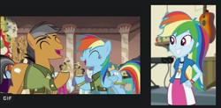Size: 473x233 | Tagged: safe, edit, screencap, quibble pants, rainbow dash, equestria girls, stranger than fan fiction, double rainbow, google images