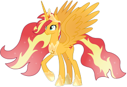 Size: 13400x9228 | Tagged: safe, artist:emeraldblast63, sunset shimmer, alicorn, pony, the last problem, alicornified, alternate design, awesome, older sunset, princess, race swap, shimmercorn, simple background, transparent background