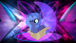 Size: 3840x2160   Tagged: safe, artist:cyanlightning, artist:laszlvfx, edit, princess luna, alicorn, pony, box, female, filly, pony in a box, solo, wallpaper, wallpaper edit, woona, younger