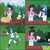 Size: 1000x1000 | Tagged: safe, artist:lzh, derpy hooves, dj pon-3, octavia melody, vinyl scratch, equestria girls, legend of everfree, bandage, box, comic, female, first aid, first aid kit, hammer, hitting, injured, medkit, not happy, octavia is not amused, old master q, run, table, unamused