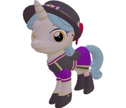 Size: 843x720 | Tagged: safe, artist:topsangtheman, pony, unicorn, 3d, clothes, hat, looking at you, simple background, solo, source filmmaker, transparent background, uniform, unnamed character, unnamed pony