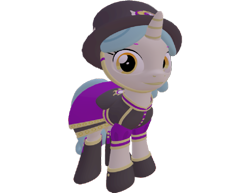 Size: 933x720 | Tagged: safe, artist:topsangtheman, pony, unicorn, 3d, clothes, hat, looking at you, simple background, solo, source filmmaker, transparent background, uniform, unnamed character, unnamed pony