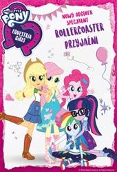 Size: 300x440 | Tagged: safe, applejack, fluttershy, pinkie pie, rainbow dash, sci-twi, twilight sparkle, equestria girls, equestria girls series, rollercoaster of friendship, hasbro, official, polish