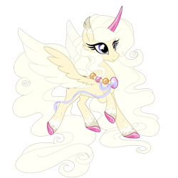 Size: 1024x1024 | Tagged: safe, artist:crystal-tranquility, oc, alicorn, original species, pond pony, pony, alicorn oc, female, horn, mare, simple background, solo, transparent background, wings