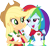 Size: 3232x3000   Tagged: safe, artist:cloudyglow, applejack, rainbow dash, equestria girls, legend of everfree, camp everfree outfits, cowboy hat, freckles, hat, open mouth, shoulder bag, simple background, smiling, stetson, transparent background, vector