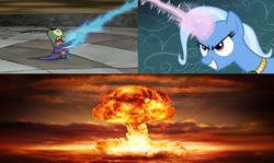 Size: 960x571   Tagged: safe, edit, trixie, pony, magic duel, atomic bomb, meme, nuclear weapon, sheldon j. plankton, spongebob squarepants, weapon