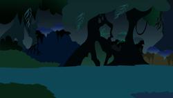Size: 1218x686   Tagged: safe, artist:darkbx, background, everfree forest, no pony, resource