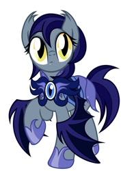 Size: 510x720 | Tagged: artist needed, safe, oc, bat pony, big eyes, cute, cute little fangs, fangs, female, guard, night guard, solo