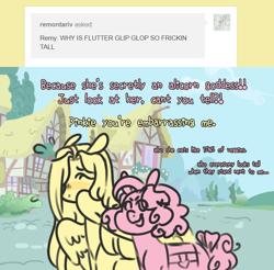 Size: 710x698 | Tagged: safe, artist:ask-pinkie-polkadot-pie, fluttershy, pinkie pie, pony, ask, ask-pinkie-polkadot-pie, tumblr