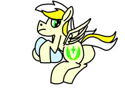 Size: 2592x1936   Tagged: safe, artist:nutking, oc, oc only, oc:white waters, pegasus, pony, butt, high res, looking back, male, pillow, plot, raised tail, simple background, solo, spread wings, tail, transparent background, wings