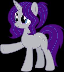 Size: 1280x1448   Tagged: safe, artist:alicorntwilysparkle, artist:luckreza8, oc, oc only, oc:crystal dancer, oc:krya, pony, unicorn, happy, horn, simple background, solo, transparent background, unicorn oc, vector