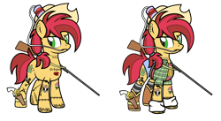 Size: 9504x5217 | Tagged: safe, artist:icey-wicey-1517, artist:n0kkun, color edit, edit, oc, oc only, oc:rootin' tootin', earth pony, pony, alcohol, bandage, beer, beer can, belt, blackletter, boots, can, clothes, collaboration, color, colored, cowboy boots, cowboy hat, daisy dukes, double barreled shotgun, drinking hat, ear piercing, earring, female, flannel, gun, handgun, hat, holster, jewelry, mare, piercing, redneck, revolver, shoes, shorts, shotgun, simple background, socks, solo, striped socks, tanktop, tattoo, transparent background, weapon