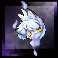 Size: 2048x2048 | Tagged: safe, artist:mychelle, oc, oc:snow drift, original species, pony, scented pony, bust, portrait, solo