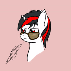 Size: 2800x2800 | Tagged: safe, artist:darthalex70, oc, oc only, oc:blackjack, pony, unicorn, fallout equestria, fallout equestria: project horizons, digital art, horn, small horn, solo, sunglasses