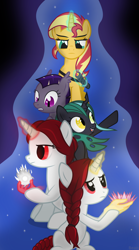 Size: 1500x2700 | Tagged: safe, artist:bean, sunset shimmer, alternate universe, cover art, fimfiction