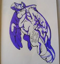 Size: 1919x2048 | Tagged: safe, artist:wishfulflora, twilight sparkle, alicorn, pony, inktober, inktober 2018, photo, solo, traditional art, twilight sparkle (alicorn)