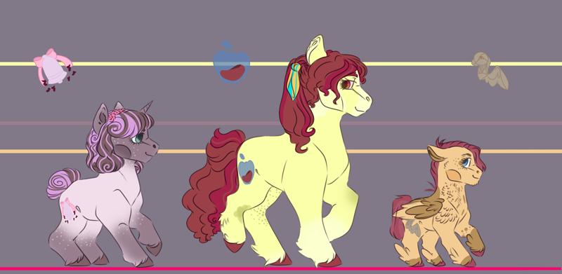 2343989 Safe Artist Kiwigoat Art Apple Bloom Scootaloo Sweetie Belle Earth Pony Pegasus Unicorn Redesign Trio Derpibooru Ambrixen (a.k.a scootaloo love sans gf) fanart. derpibooru