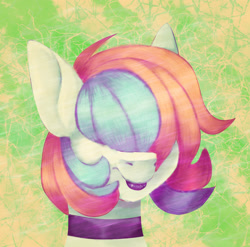Size: 3102x3065 | Tagged: safe, artist:tuzz-arts, oc, oc only, oc:cool ginger, pegasus, pony, choker, femboy, green background, lipstick, male, multicolored hair, simple background, solo, trap