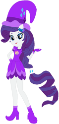 Size: 330x694 | Tagged: safe, artist:selenaede, artist:user15432, rarity, human, equestria girls, barely eqg related, base used, boots, clothes, cosplay, costume, crossover, cutie mark, cutie mark on clothes, ear piercing, earring, element of generosity, gloves, hand on hip, hat, jewelry, magical doremi, ojamajo doremi, piercing, ponied up, purple dress, shoes, witch, witch apprentice, witch costume, witch hat, witchling