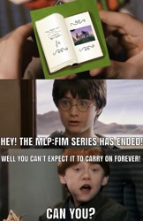 Size: 1017x1568 | Tagged: safe, edit, edited screencap, screencap, the last problem, harry potter, meme, reference, the end