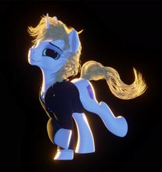 Size: 2000x2119 | Tagged: safe, artist:etherium-apex, oc, oc:rosin bow, pony, unicorn, 3d, clothes, male, solo, stallion, suit
