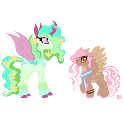 Size: 2100x1915 | Tagged: safe, artist:angei-bites, oc, oc only, changepony, hybrid, clothes, female, high res, interspecies offspring, offspring, parent:discord, parent:fluttershy, parent:thorax, parents:discoshy, scarf, simple background, transparent background