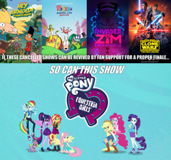 Size: 3443x3203   Tagged: safe, edit, edited screencap, screencap, applejack, fluttershy, pinkie pie, rainbow dash, rarity, sci-twi, spike, sunset shimmer, twilight sparkle, dog, equestria girls, caption, clothes, converse, end of ponies, equestria girls logo, flying, geode of empathy, geode of fauna, geode of shielding, geode of sugar bombs, geode of super speed, geode of super strength, geode of telekinesis, hey arnold, hey arnold: the jungle movie, hope, humane five, humane seven, humane six, image macro, impact font, intro, invader zim, invader zim: enter the florpus, kneeling, logo, looking at you, magical geodes, meme, movie poster, pantyhose, ponied up, poster, rocko's modern life, rocko's modern life: static cling, shoes, sneakers, star wars, star wars: the clone wars, text, wings