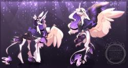 Size: 1024x545 | Tagged: safe, artist:manella-art, oc, oc:sunny moonlight, alicorn, pony, female, magical lesbian spawn, mare, offspring, parent:rainbow dash, parent:twilight sparkle, parents:twidash, solo, watermark