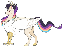 Size: 1600x1178 | Tagged: safe, artist:trippinmars, oc, oc only, oc:astraea, hybrid, female, interspecies offspring, offspring, parent:discord, parent:princess celestia, parents:dislestia, simple background, solo, transparent background