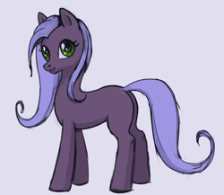 Size: 1144x993 | Tagged: safe, artist:sinvelia, oc, earth pony, pony, colored sketch, earth pony oc, female, sketch, solo