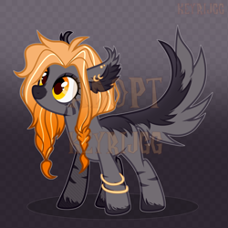 Size: 2000x2000 | Tagged: safe, artist:keyrijgg, oc, pony, wolf, adoptable, art, auction, reference, simple background, watermark