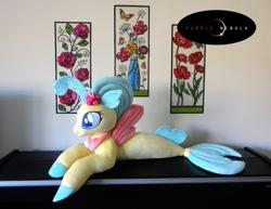 Size: 1280x990 | Tagged: safe, artist:purplenebulastudios, princess skystar, seapony (g4), my little pony: the movie, irl, photo, plushie, solo