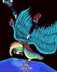 Size: 2504x3144 | Tagged: safe, artist:filomental, rainbow dash, equestria girls, author:filomental, converse, dark magic, fanfic art, magic, shoes