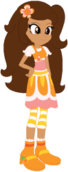 Size: 222x560 | Tagged: safe, artist:selenaede, artist:user15432, human, equestria girls, barely eqg related, base used, boots, clothes, crossover, dress, equestria girls style, equestria girls-ified, flower, flower in hair, hairpin, hand on hip, orange blossom (strawberry shortcake), orange dress, shoes, socks, strawberry shortcake, strawberry shortcake's berry bitty adventures