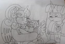 Size: 3783x2576 | Tagged: safe, artist:徐詩珮, princess flurry heart, twilight sparkle, oc, oc:bubble sparkle, alicorn, pony, bubbleverse, series:sprglitemplight diary, series:sprglitemplight life jacket days, series:springshadowdrops diary, series:springshadowdrops life jacket days, alternate universe, aunt and niece, baby, baby pony, chase (paw patrol), clothes, cousins, female, filly, filly flurry heart, lifejacket, magical lesbian spawn, magical threesome spawn, mother and child, mother and daughter, multiple parents, next generation, offspring, older, older flurry heart, parent:glitter drops, parent:spring rain, parent:tempest shadow, parent:twilight sparkle, parents:glittershadow, parents:sprglitemplight, parents:springdrops, parents:springshadow, parents:springshadowdrops, paw patrol, twilight sparkle (alicorn)