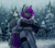 Size: 3365x2962 | Tagged: safe, artist:1an1, oc, oc only, oc:lucid rose, anthro, bat pony, bat pony oc, bat wings, clothes, female, forest, gun, h&k g3, high res, snow, snowfall, solo, weapon, wings