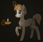 Size: 1372x1342 | Tagged: safe, artist:czu, oc, oc only, oc:tallow wick, unicorn, candle, male, solo, stallion