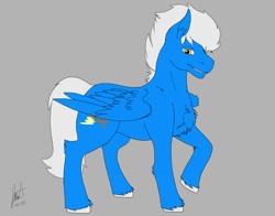 Size: 1280x1003   Tagged: safe, artist:solex, oc, oc only, oc:jetstream, oc:solex, pegasus, pony, blue, colored, male, solo, stallion, wings