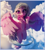 Size: 1920x2129 | Tagged: safe, artist:sceathlet, silverstream, hippogriff, 3d, cloud, cute, diastreamies, female, flying, sky, smiling, solo, zbrush
