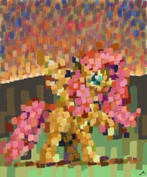 Size: 1024x1229 | Tagged: safe, artist:docwario, fluttershy, pegasus, pony, impressionism, modern art, painterly, solo
