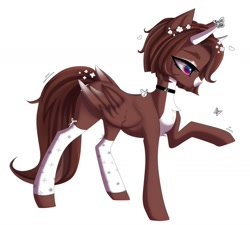 Size: 1280x1151   Tagged: safe, artist:likelike1, oc, pegasus, pony, female, horns, mare, simple background, solo, white background